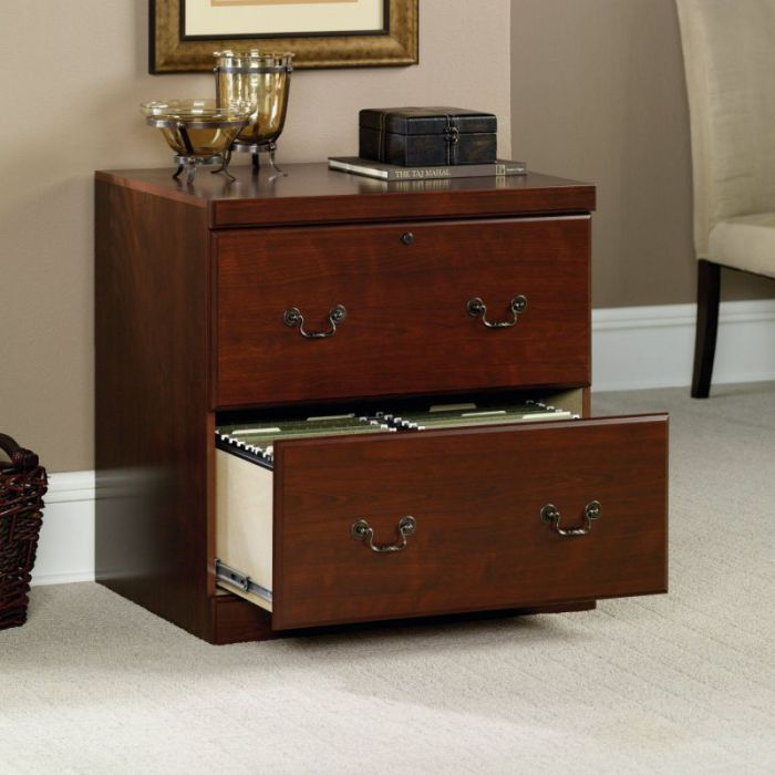 Sauder Heritage Hill 2 Drawer Lateral File Cabinet in Classic Cherry Finish