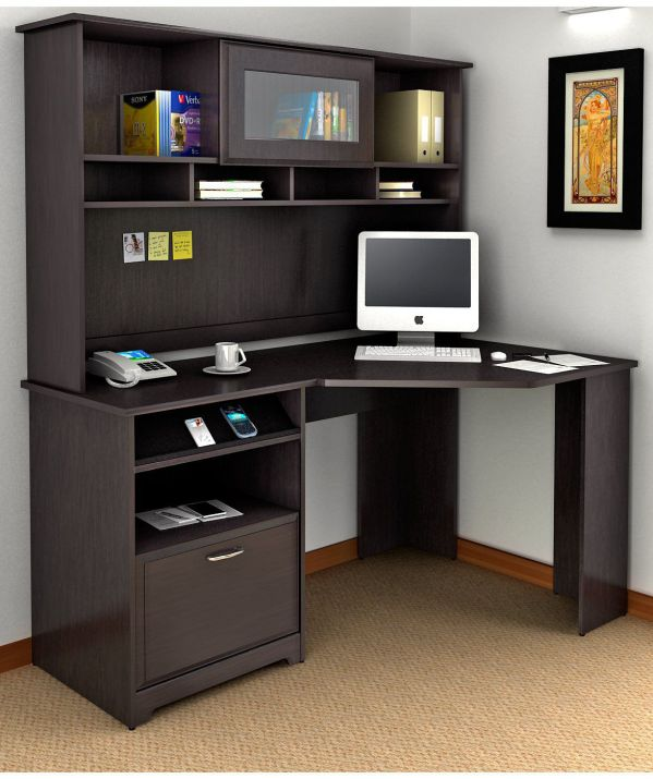 Sauder cabot small computer desks with hutch