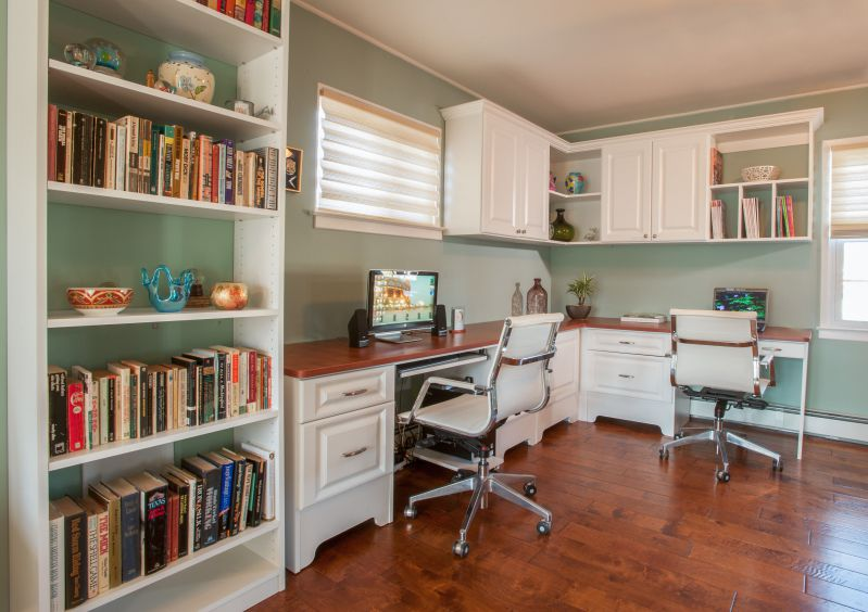 Top Brown Double Office Desk for Two People