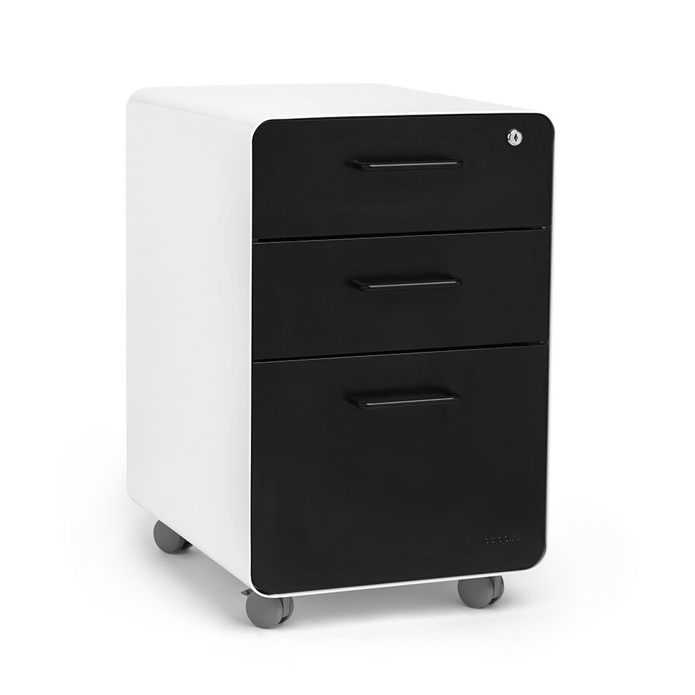 Trendy Small Black and White File Cabinet