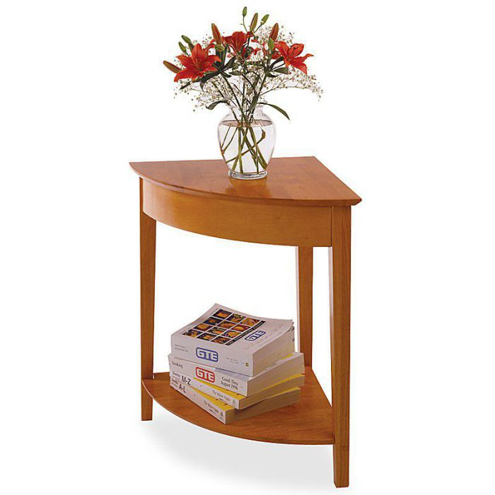 Winsome Trading Lyndon Light Oak End Corner Table