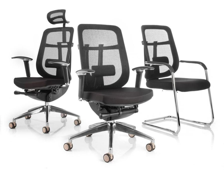 Women Mesh Office Chairs with Padded Seat