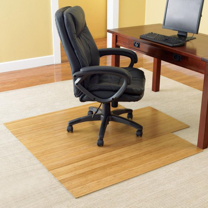 Wooden hardwood floors office chair mat