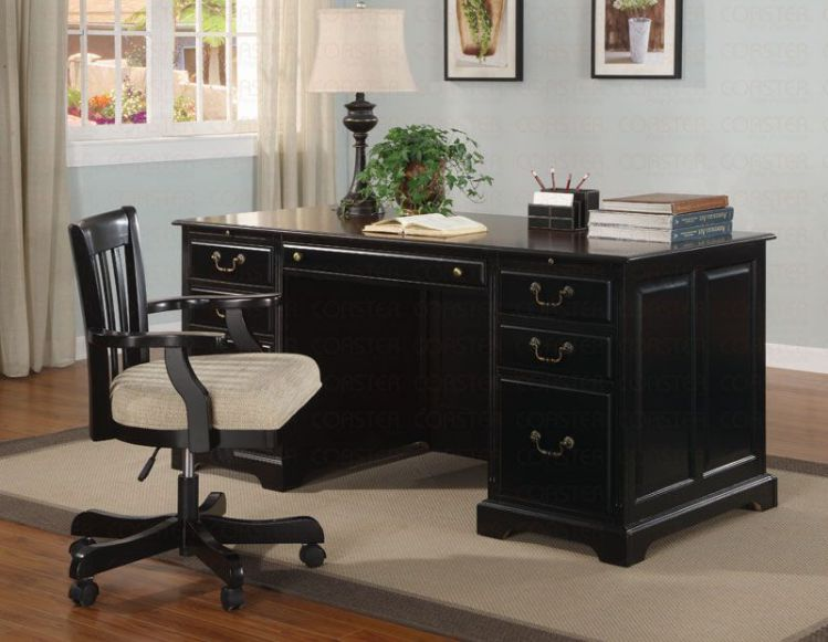 black executive desk home office furniture design