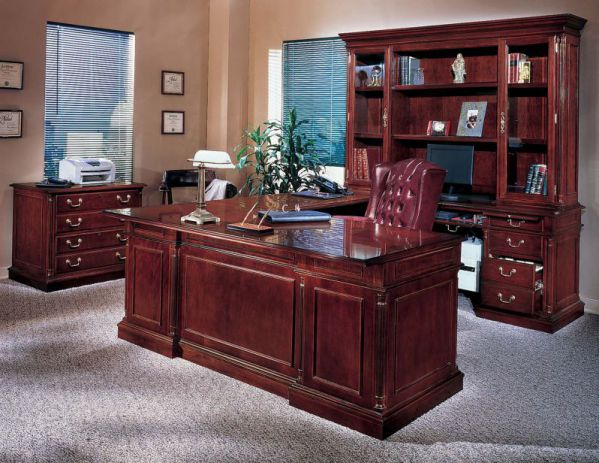 cherry executive desk for home office