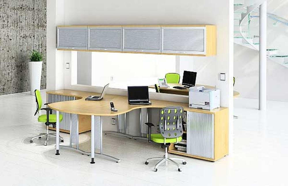 dual computer desk for home office with top storage