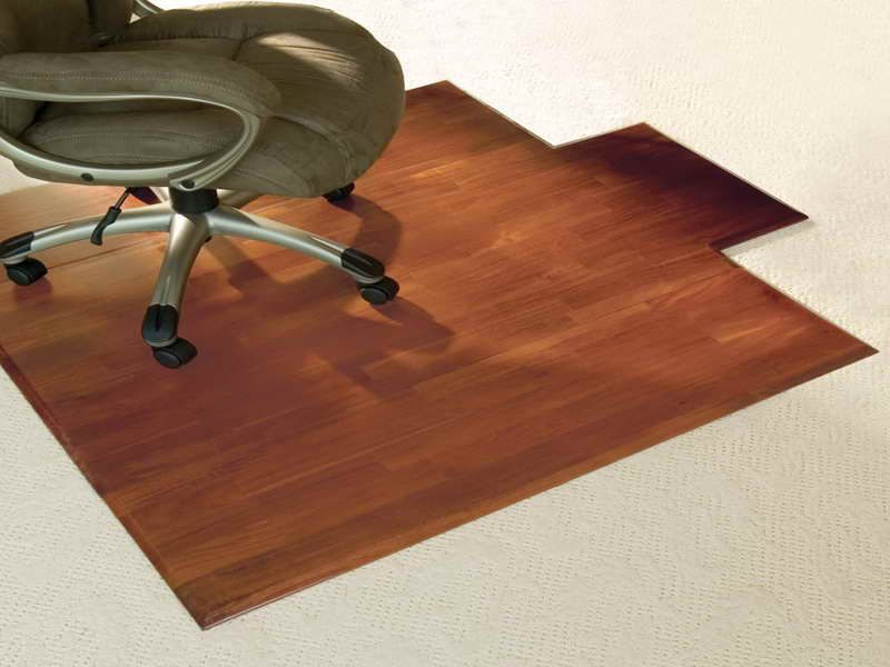 hardwood desk and chair mat