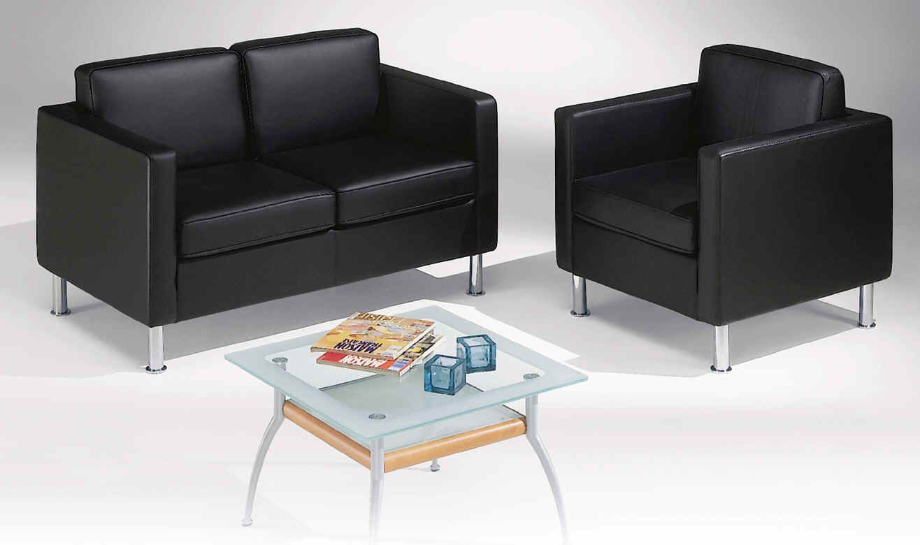modern office guest chairs in black leather
