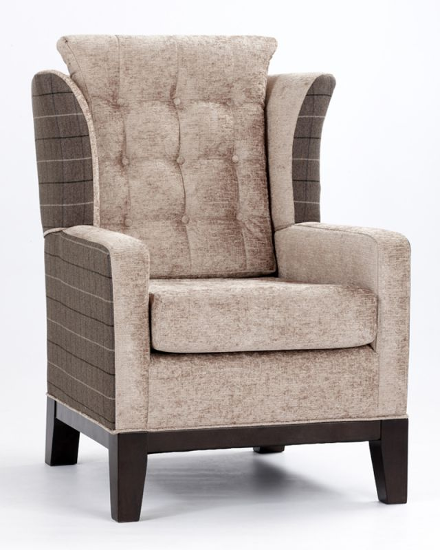 stylish tivoli high back chair with wing