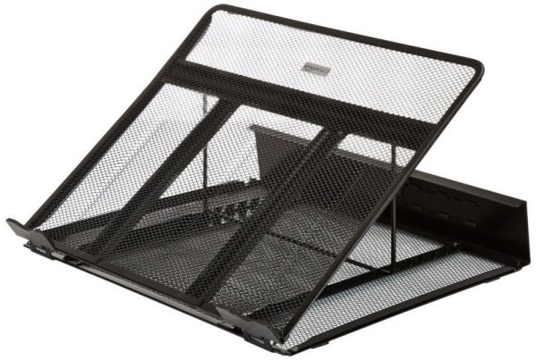 AmazonBasics Ventilated Adjustable Black Laptop Stand