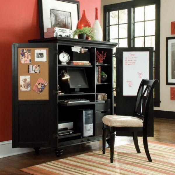 American Drew 919-944 Camden Dark Home Office Cabinet