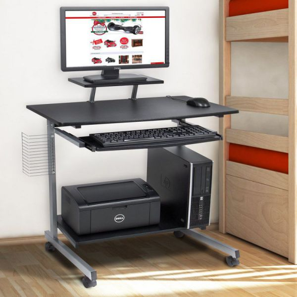 Best Choice Products Computer Desk Cart PC Laptop Table