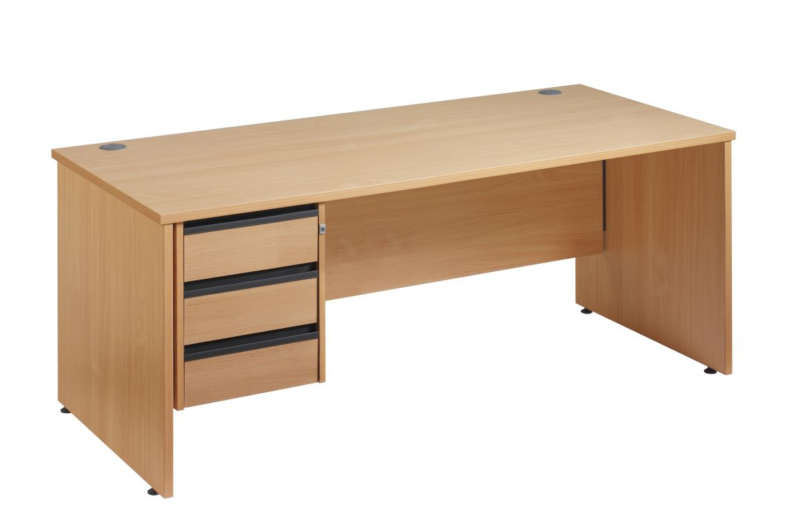 Cheap Pine Desk with Three Drawer