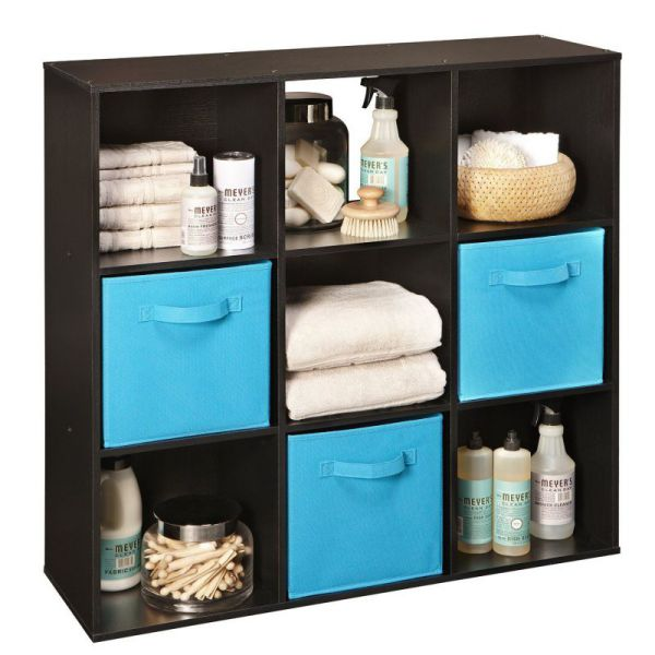 ClosetMaid 78016 Cubeicals 9-Cube Organizer, Black