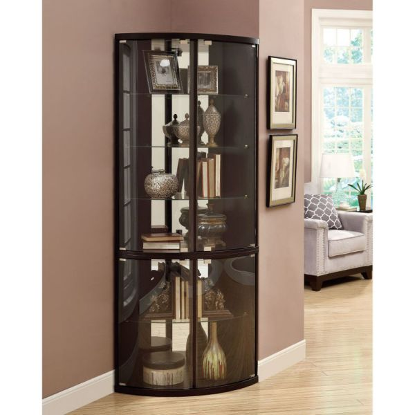 Corner Curio Cabinet with Light by Wildon Home