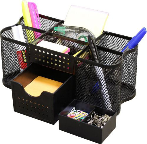 DecoBros Desk Supplies Organizer Caddy (Black)
