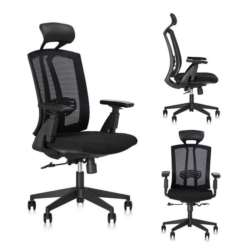 Dr. Office Ergonomic High Desk Chair with Back Mesh, Headrest and Armrest