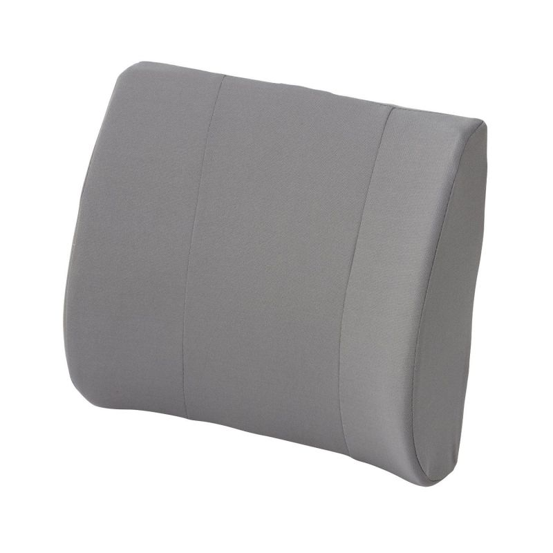 Duro-Med Relax-a-Bac, Lumbar Back Support Cushion Pillow with Insert and Strap to Properly Align the Spine and Ease Lower Back Pain, Gray