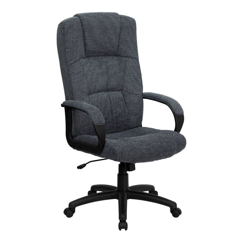 Flash Furniture BT-9022-BK-GG High Back Gray Executive Microfiber Office Chairs