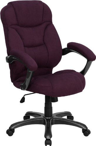 Flash Furniture High Back Grape Microfiber Upholstered Contemporary Office Chair