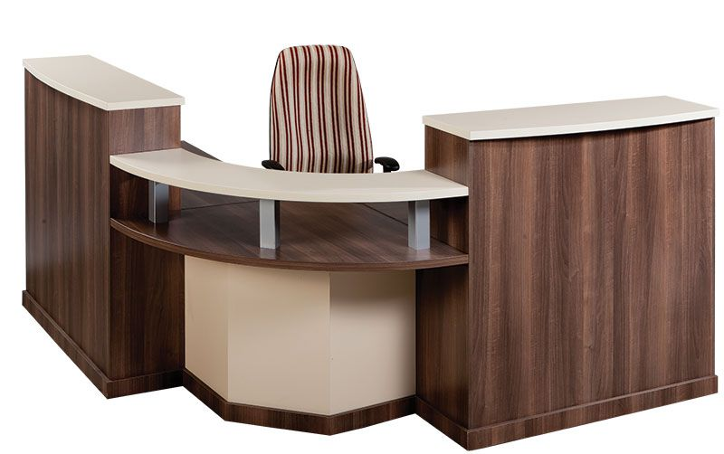 L-Shape Reception Desk withCounter Link