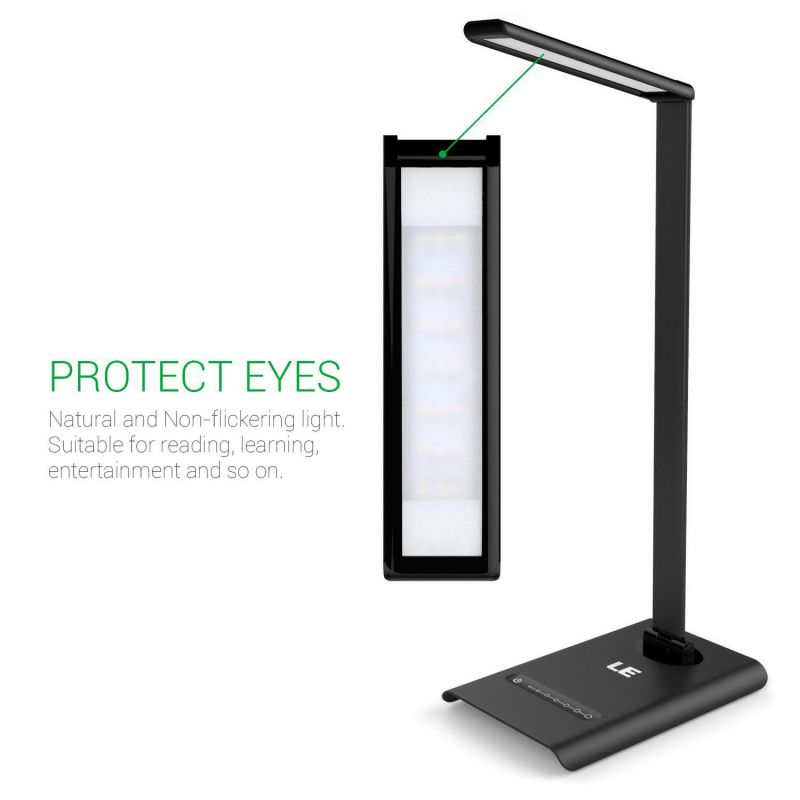 LE Dimmable LED Desk Lamp, 7 Brightness Levels, Eye Protection Design Reading Lamp