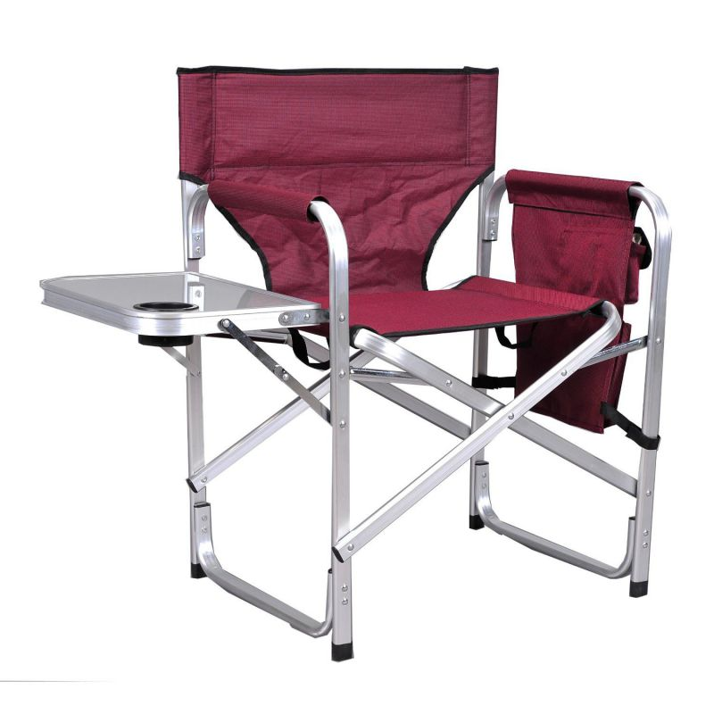 Ming's Mark SL1204BUR Cheap Director Chair with Table