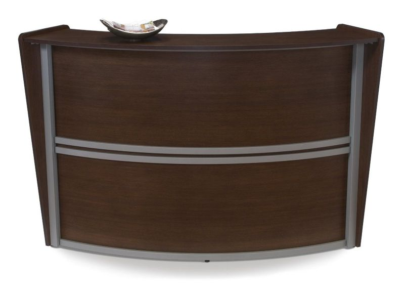 OFM 55290-WALNUT Marque Single-Unit Reception Station