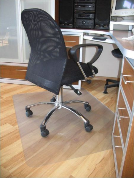 ProSource Clear Multitask Polycarbonate Office Chair Floor Mat for Hardwood Floors