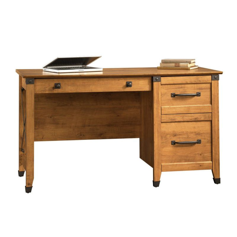Sauder Registry Row Desk, Amber Pine