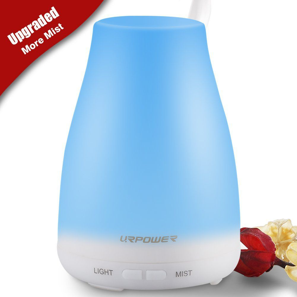 URPOWER 2nd Version Essential Oil Diffuser,100ml Aroma Essential Oil Cool Mist Humidifier with Adjustable Mist Mode