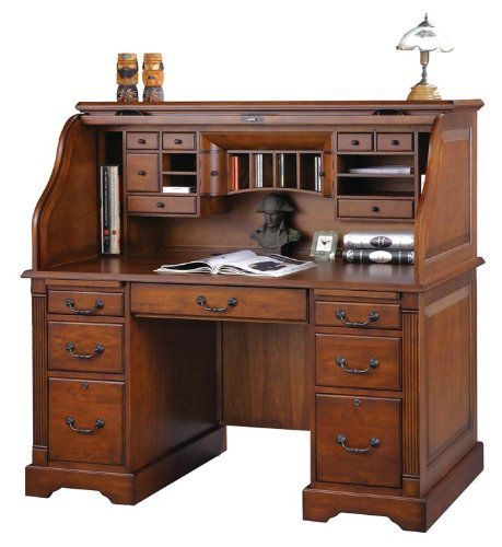 Wilshire Furniture 57-inch Wood Rolltop Desk KZA226