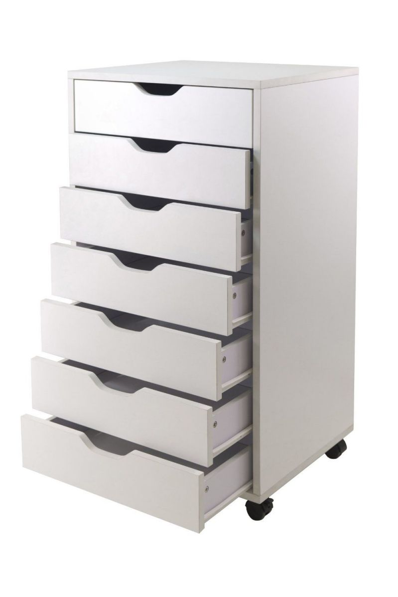 Winsome Halifax Cabinet for Closet Office, 7 Drawers, White