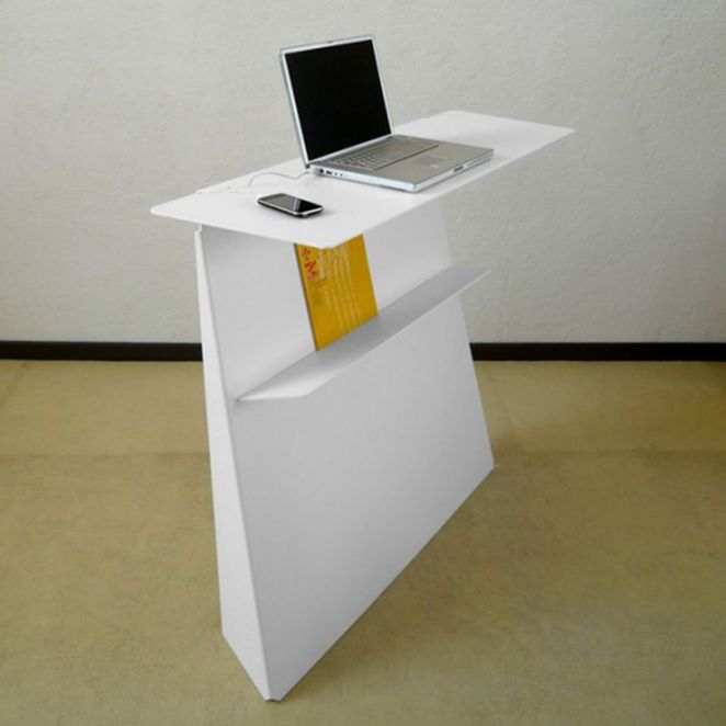modern white unusual computer desks