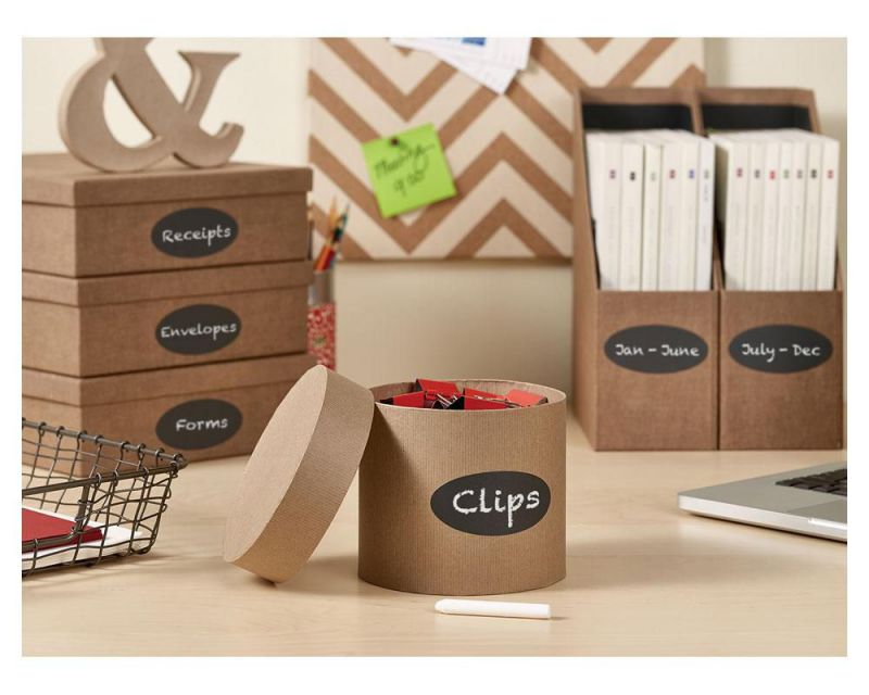 organize more with chalkboard labels