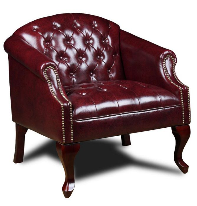 Boss BR99801-BY Classic Traditional Button Tufted Leather Office Chair