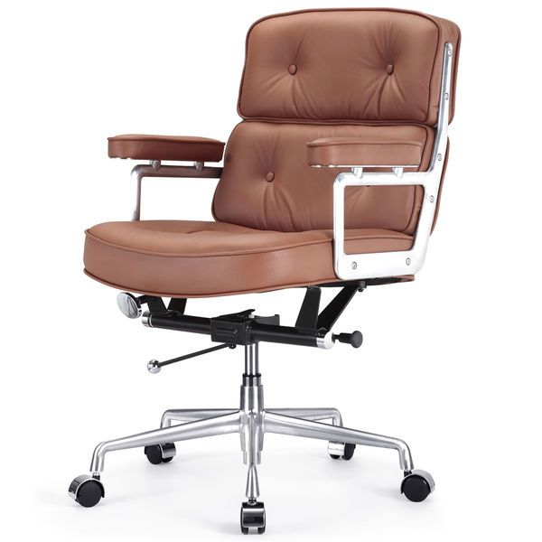 Cinque Italian Brown Leather Office Chair