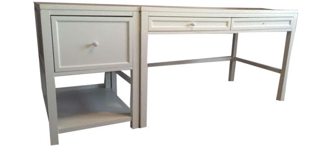 Contemporary Martha Stewart White Desk & Filing Cabinet