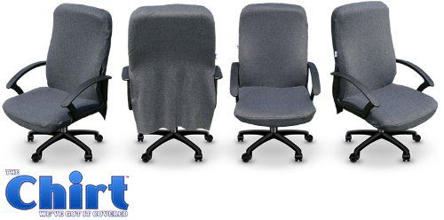 Grey Office Desk Chair Cover (The Chirt)