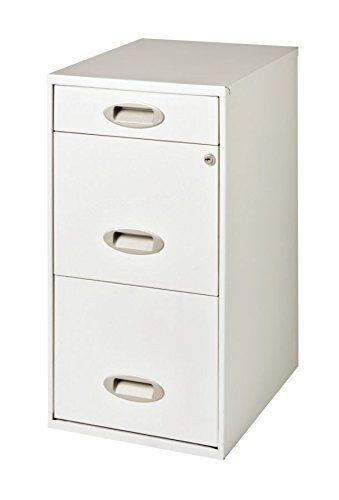 Hirsh 3-Drawer SOHO Steel File Cabinet, 18-Inch, Soft White