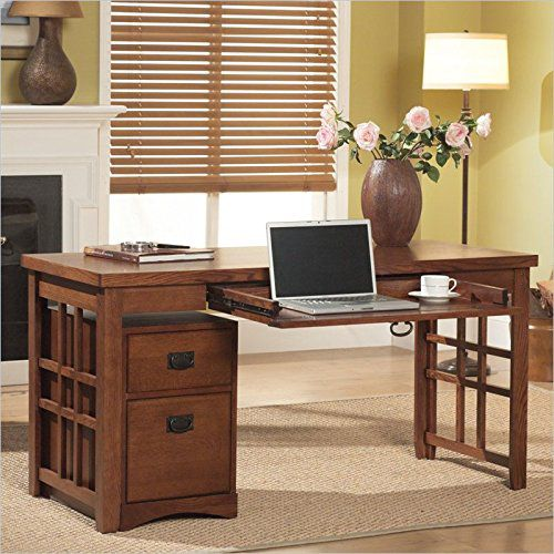 Kathy Ireland Home by Martin Mission Pasadena Computer Writing Desk Set in Mission