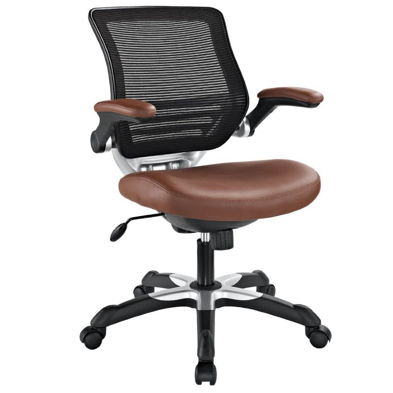 LexMod Edge Vinyl Office Chair, Tan