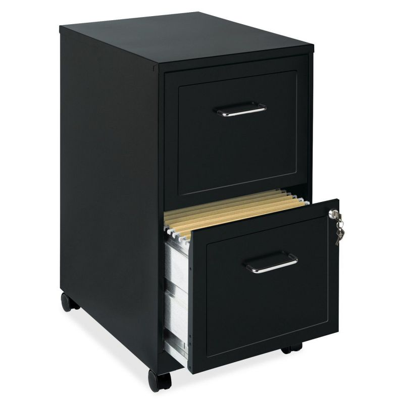 Lorell 16872 2-Drawer Mobile Legal File Cabinet, 18-Inch