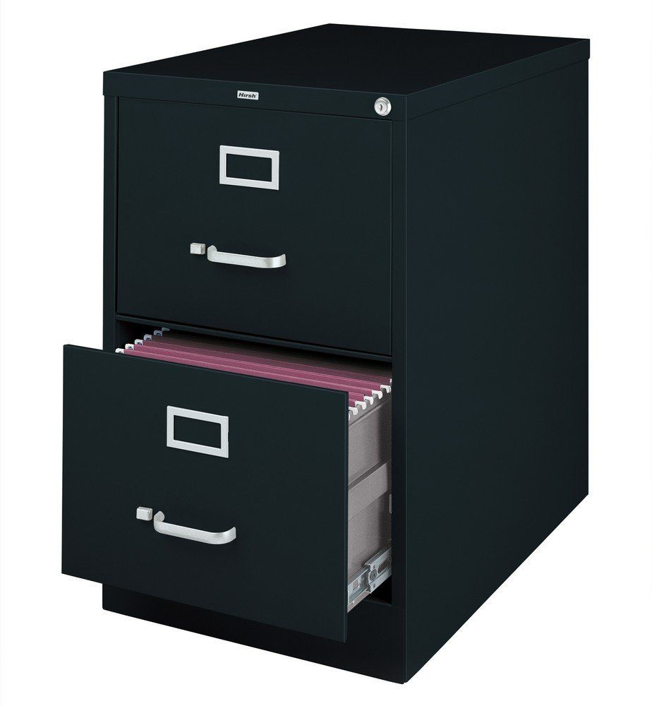 Lorell 2-Drawer Vertical Legal Size Filing Cabinet, Black