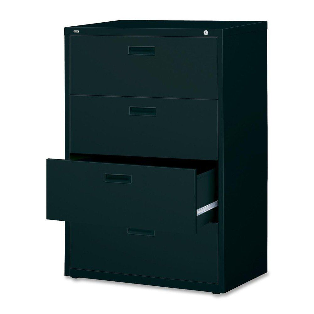 Lorell 4-Drawer Lateral File, 30 by 18-5/8 by 52-1/2-Inch, Putty