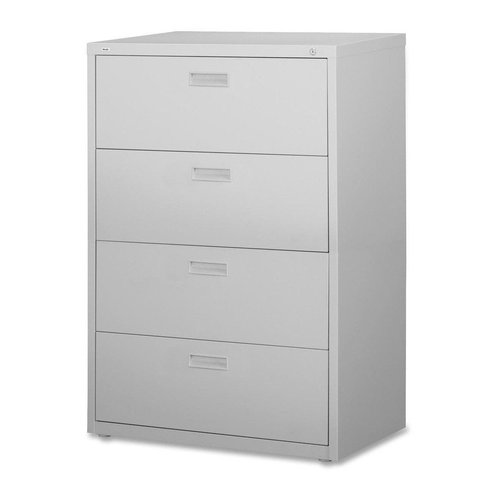 Lorell 4-Drawer Lateral File in Light Gray