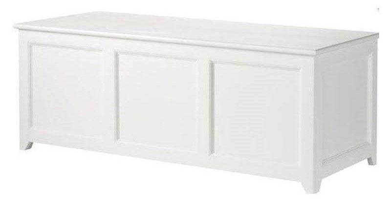 Martha Stewart Living Craft Space 19.25 in. x 50 in. 3-Compartment Chest in White