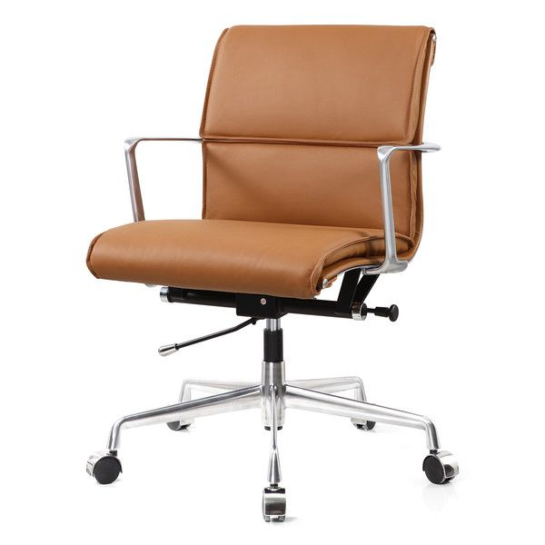 Mid-Back Leather Office Chair by Meelano