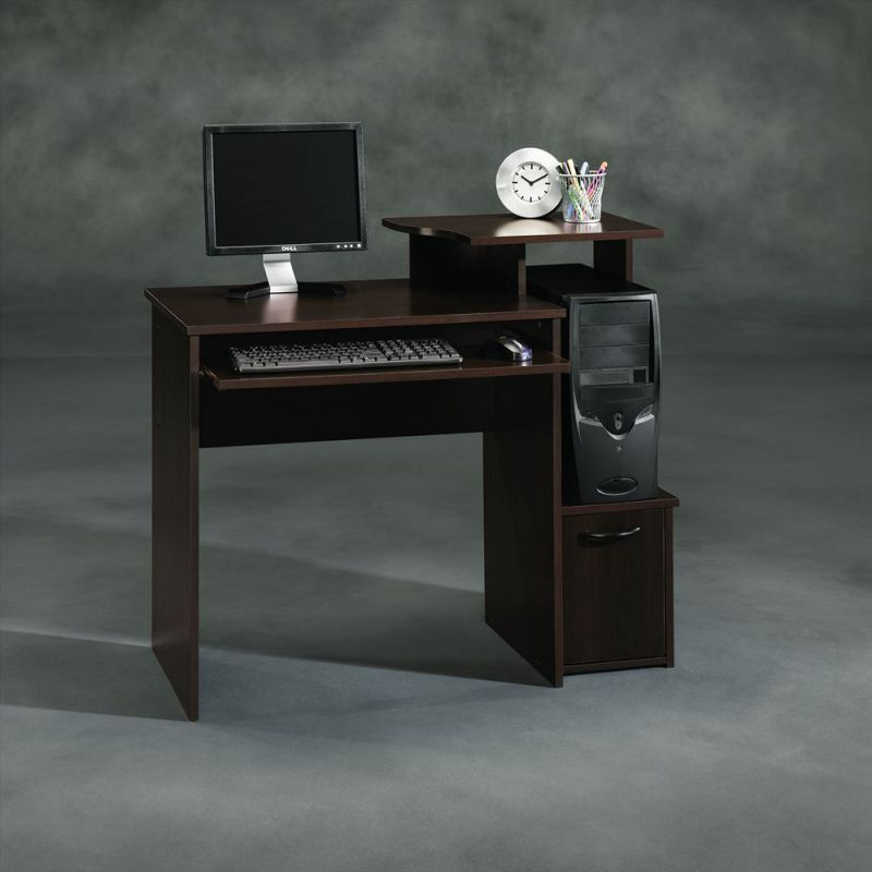 Sauder Beginnings Computer Desk, Cinnamon Cherry Finish