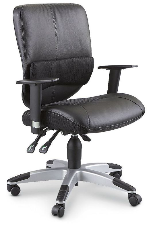 Sealy Posturepedic Leather Office Chair Black